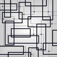 Abstract square line with white background for wall decoration