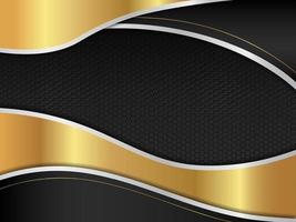 Abstract silver with gold black modern background vector design