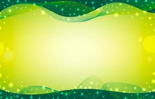 Green Abstract Background with Wave Lines vector