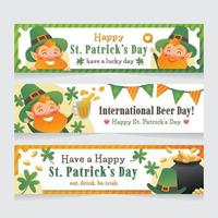 Cute Leprechaun Celebrating St. Patrick's Day vector