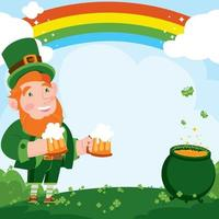 Celebrating St. Patrick's Day Background Concept vector