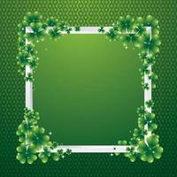 Green Shamrock Leaf Border Background Concept vector