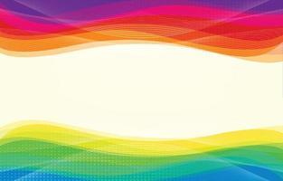 Rainbow Wave Abstract Background vector
