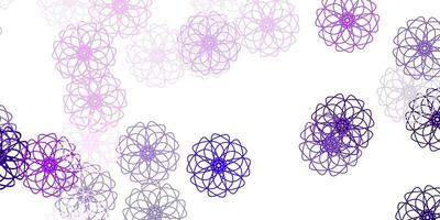 Light purple, pink vector natural artwork with flowers.