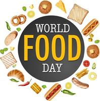 World Food Day logo with bakery theme vector