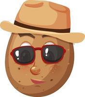 personaje de dibujos animados de papa con expresión facial vector