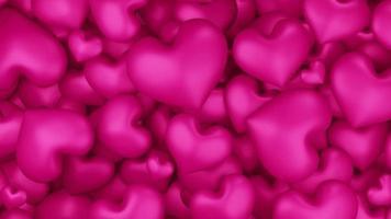 Fond de coeurs roses 3D video