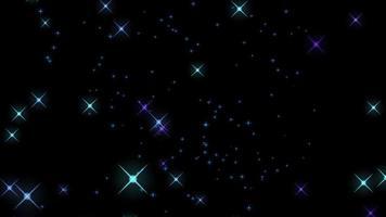 fundo azul roxo com estrelas brilhantes video