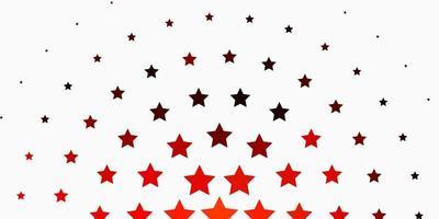 patrón de vector naranja claro con estrellas abstractas.