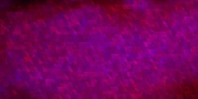 Dark Pink vector texture with lines, triangles.