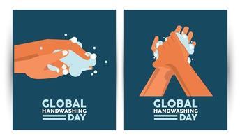 letras del día mundial del lavado de manos con lavado de manos