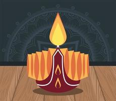 happy diwali celebration with candle