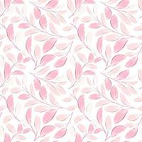 Floral seamless pattern with watercolor style vector