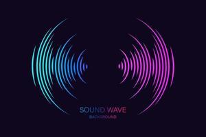 ecualizador de ondas de sonido adecuado para póster vector