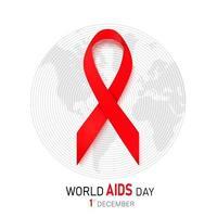 Hiv Awareness Red Ribbon vector