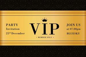 VIP party premium invitation card poster flyer vector