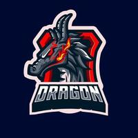 personaje de la mascota del dragón vector
