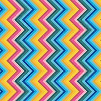 vector de fondo de patrón de color completo de línea en zigzag