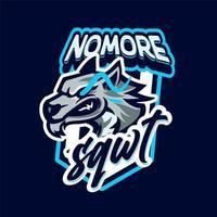 mascota lobo e personaje deportivo vector