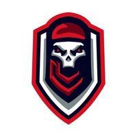 Skull Ghost Mascot E Sports Style vector