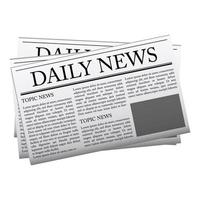 Newspaper mockup template vector