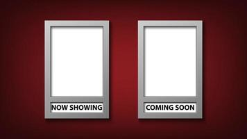 Movie poster frame template set