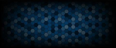 Technological hexagon pattern background vector