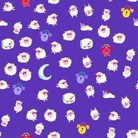hora de acostarse, buenas noches sueño vector de patrones sin fisuras