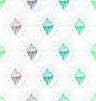 Mountain iceberg peak pattern vector