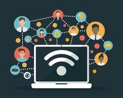 diseño plano de redes sociales vector