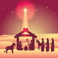 Epiphany of Jesus scene vector