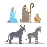 epifanía de jesús conjunto de iconos vector