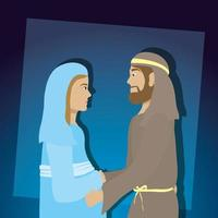 Epiphany of Jesus, sacred family vector