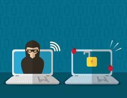 technology internet security flat design vector