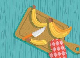 Food preparation table top view vector