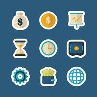 conjunto de iconos de dinero y finanzas