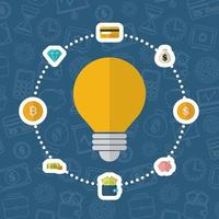 criptomoneda y dinero, diseño plano del concepto de finanzas
