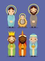 Epiphany of Jesus character set vector