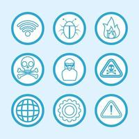 Computer and internet security icon set