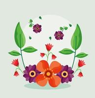 Save the date floral wedding card vector