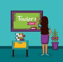Teacher's day celebration design vector