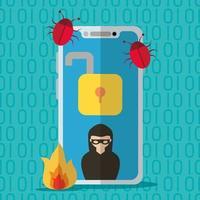 tecnología internet seguridad diseño plano vector