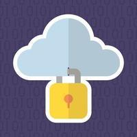 tecnología internet seguridad diseño plano
