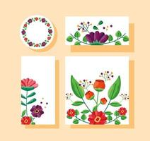 Save the date floral wedding set