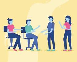 concepto de trabajo conjunto con personas en una reunión