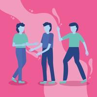 Men with gesturing hands vector