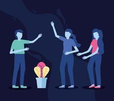 People talking with hands gesture vector