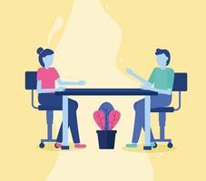 personas en una reunión de oficina
