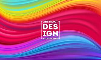 Abstract Colorful Flow poster designs template vector