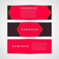 Ilustración de diseño de plantilla de vector de ramadan kareem